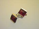 Baltic Amber Cufflinks - Sterling Silver Cuff Links - Stylish Men's Accessory