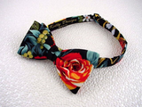 "Bow Tie ""Maui Rose""- Tropical Flower Bowtie - Hawaiian Men's Accessory - Hand Made in USA"