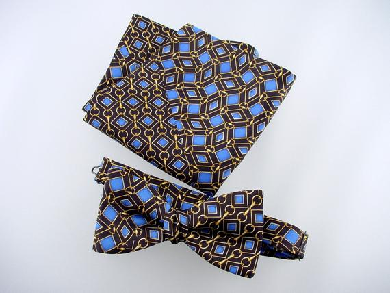 Bow Tie and Pocket Square Men's Gift Set.