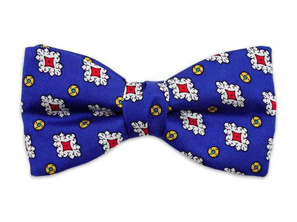 Royal blue silk bow tie for infants, boys and youths.