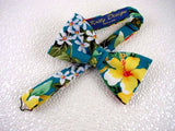 "Bow Tie ""Yellow Hibiscus"" - Hawaiian Flower Bow Tie - Hand Made in USA"