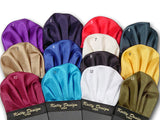 Fifteen Solid Color Silk Pocket Squares. Pre-Fitted Posket Square. Purple, navy, red, dark green, tan, blue, ivory, black, yellow, wine, turquoise, white, olive green, baby blue, and dusty pink pocket squares.