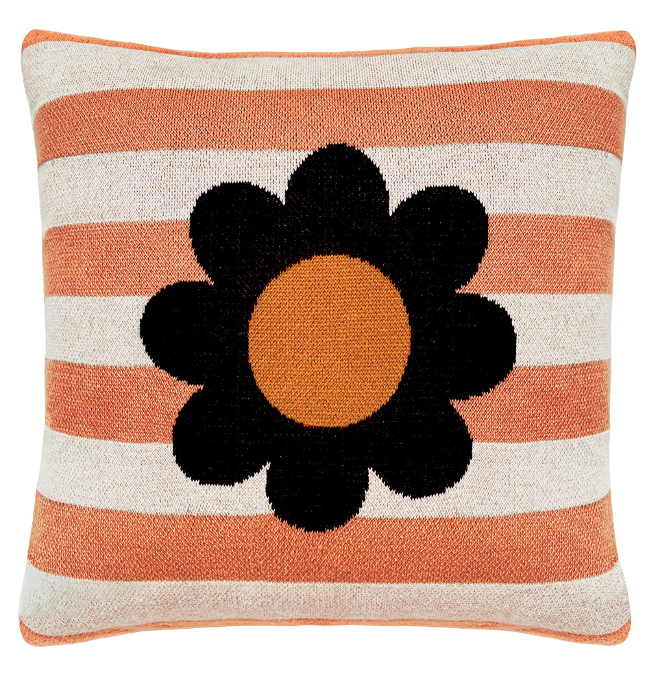BLOOM STRIPE KNIT CUSHION COVER