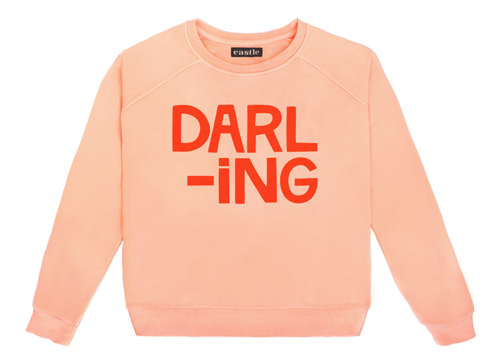 Darling Sweater by Castle. Two tone Printed Sweater in Pink and Red