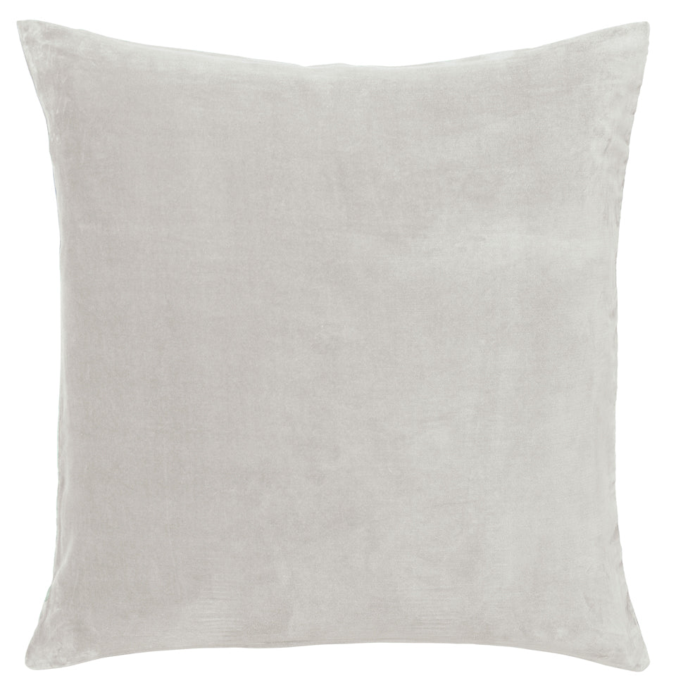 Ice Grey Velvet European Pillowcase. 65 x 65cm