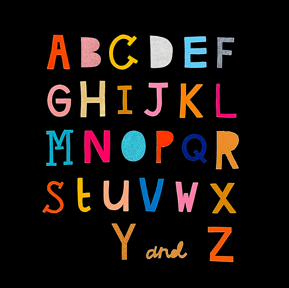 Alphabet 2 Embroidery by Rachel Castle. 660mm w x 670mm h