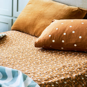 PRE ORDER BUTTERSCOTCH LINEN PILLOWCASE