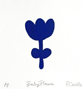 Baby Flower Print by Rachel Castle. 250mm w x 280mm h