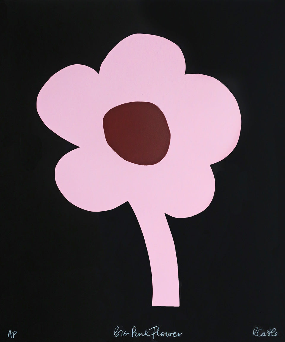 Big Pink Flower Print by Rachel Castle. 410mm w x 500mm h