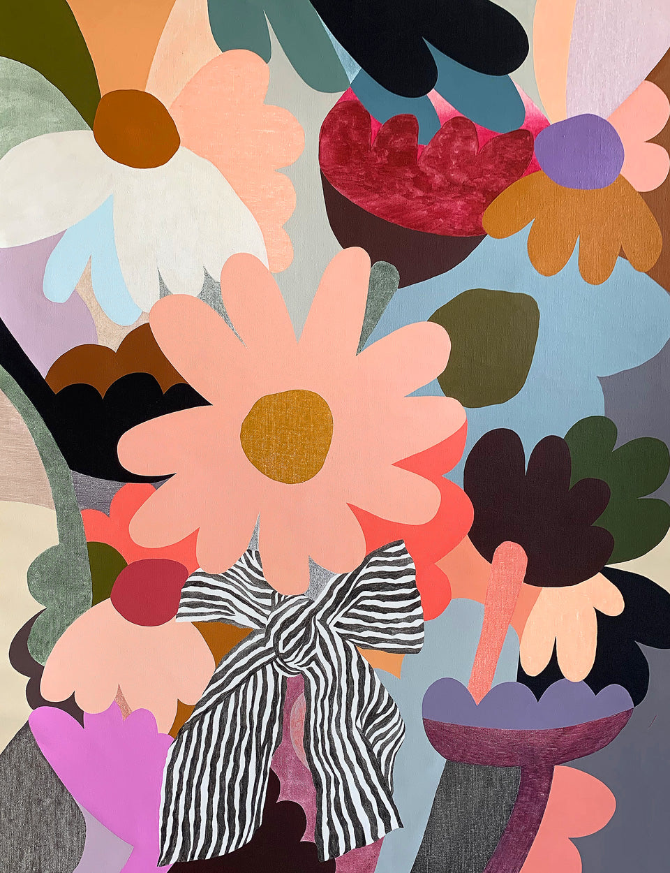 Big Posy 3 painting by Rachel Castle. 1100mm w x 1430mm h