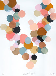 Blush Confetti Print by Rachel Castle. 500mm w x 750mm h