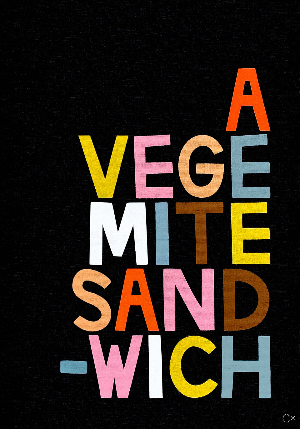 VEGEMITE SANDWICH ART TEATOWEL