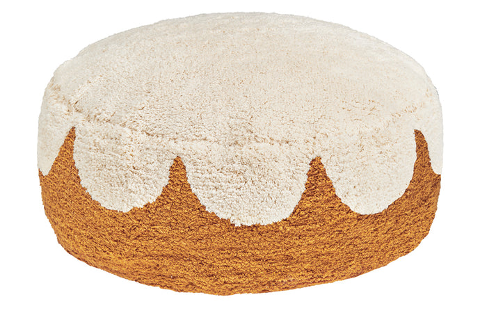 BUTTERSCOTCH SHAG FLOOR CUSHION