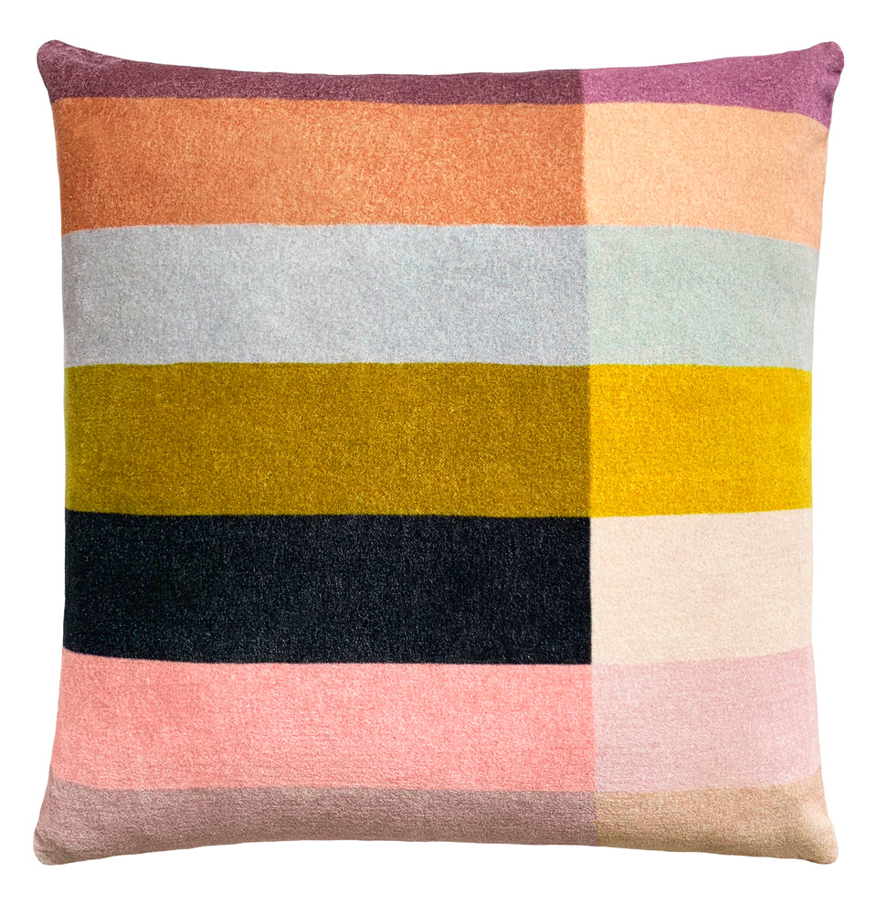 COLOUR BLOCK CUSHION COVER