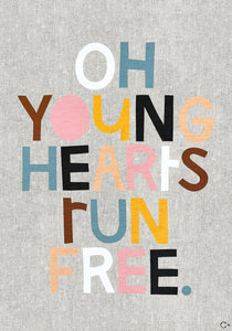 YOUNG HEARTS ART TEATOWEL