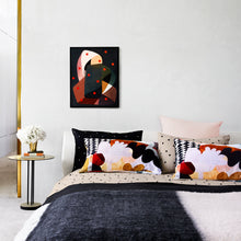 Licorice Linen range by Castle. Harlequin Velvet Pillowcase. Linen European Pillowcases. Licorice Allsort Bumble Blanket
