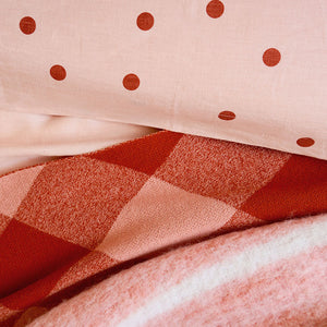 BLUSH TARTAN THROW