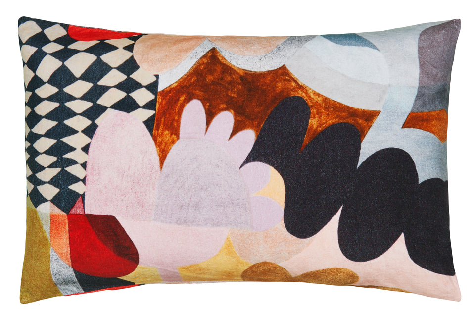 Harlequin Velvet Pillowcase by Castle. Digital Print