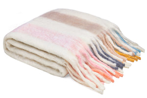 SORBET STRIPE BUMBLE BLANKET