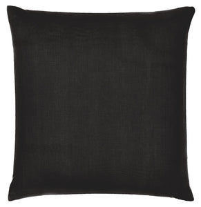 Licorice Linen European Pillowcase by Castle. 65 x 65cm