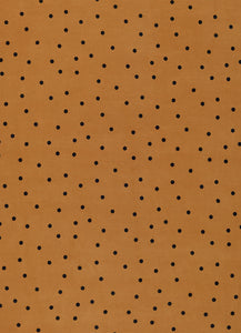 Butterscotch Spot Linen Fitted Sheet by Castle