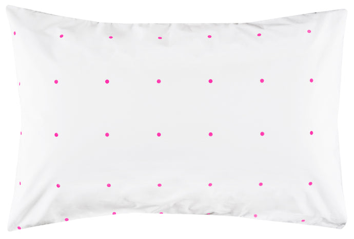 Fluro Pegboard Pillowcase by Castle. 50 x 75cm