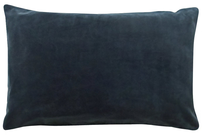 Charcoal Velvet Pillowcase by Castle. 50 x 75cm