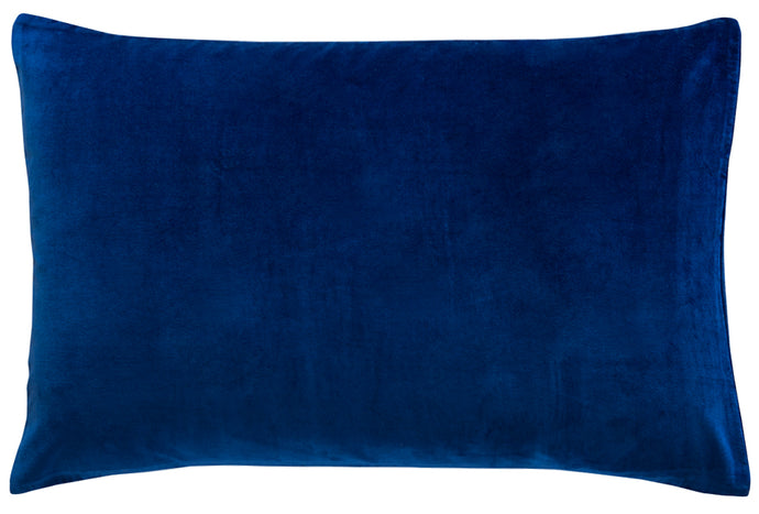 Navy Velvet Pillowcase by Castle. 50 x 75cm