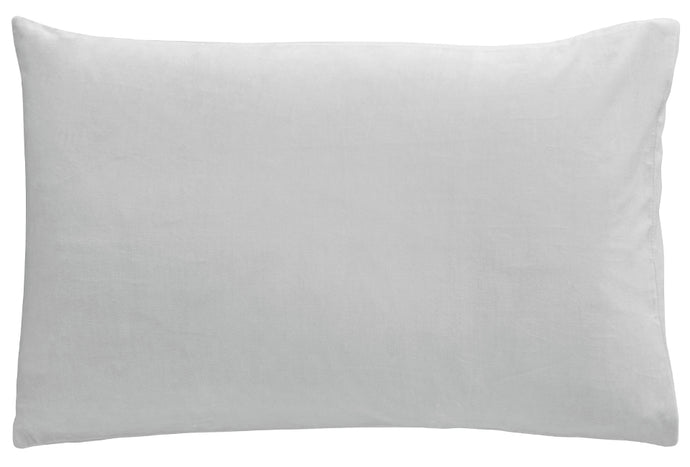Ice Grey Velvet Pillowcase by Castle. 50 x 75cm