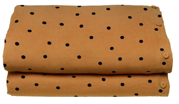 Butterscotch Spot Linen Quilt Cover by Castle