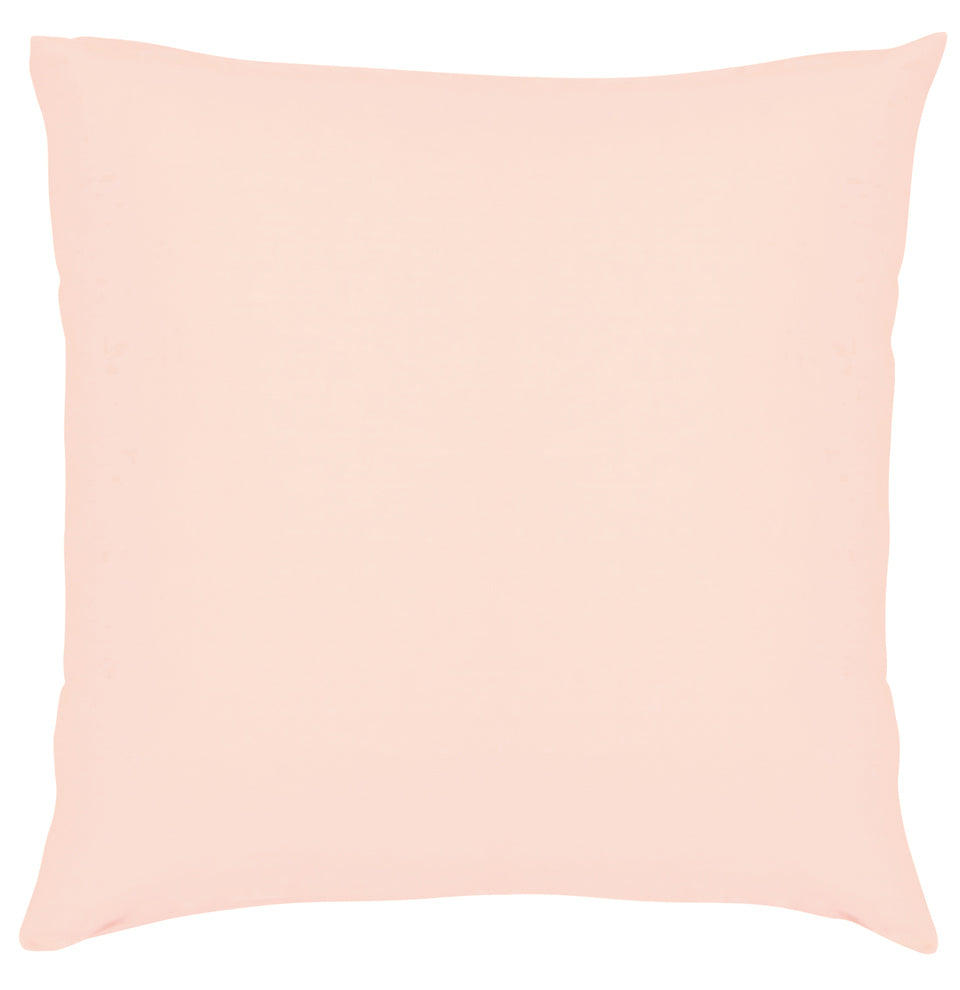 Blush Linen European PIllowcase by Castle. 65 x 65cm