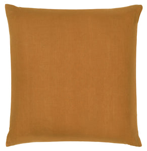 Butterscotch Linen European Pillowcase by Castle. 65 x 65cm