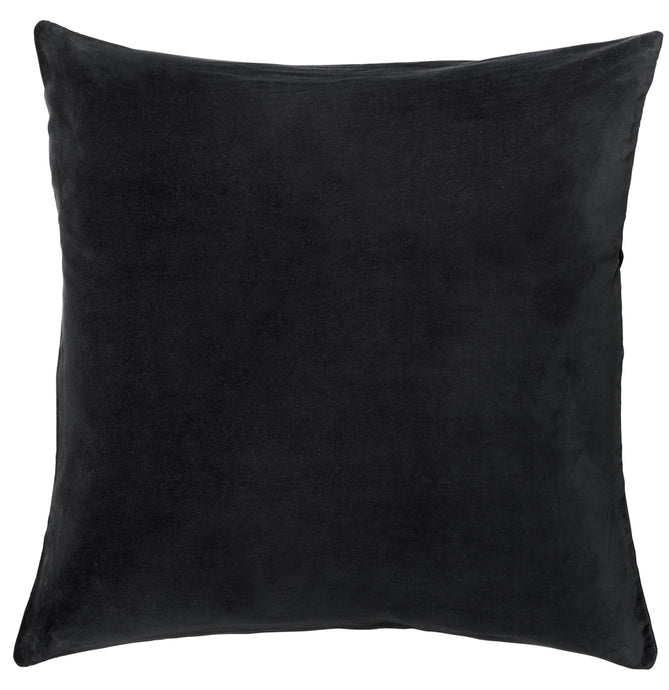 Charcoal Velvet European Pillowcase by Castle. 65 x 65cm