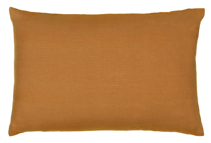 Butterscotch Linen PIllowcase by Castle. Plain Linen. 50 x 75cm