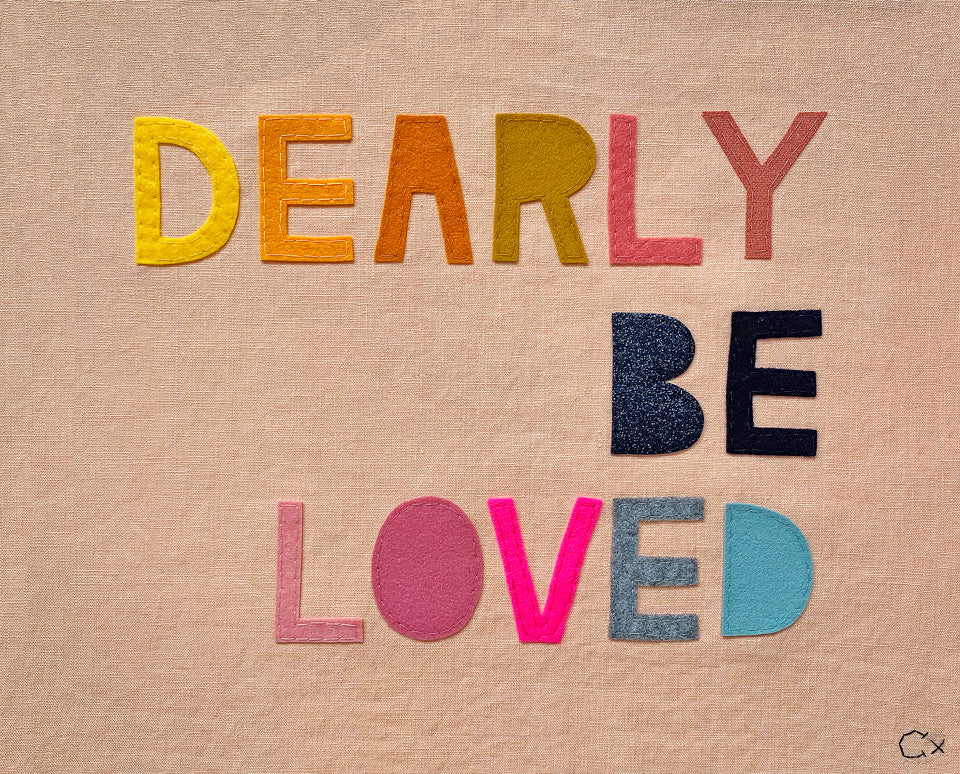 Dearly Be Beloved Embroidery by Rachel Castle. 480mm w x 380mm h