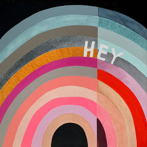 Hey 2 painting by Rachel Castle. 620mm w x 620mm h