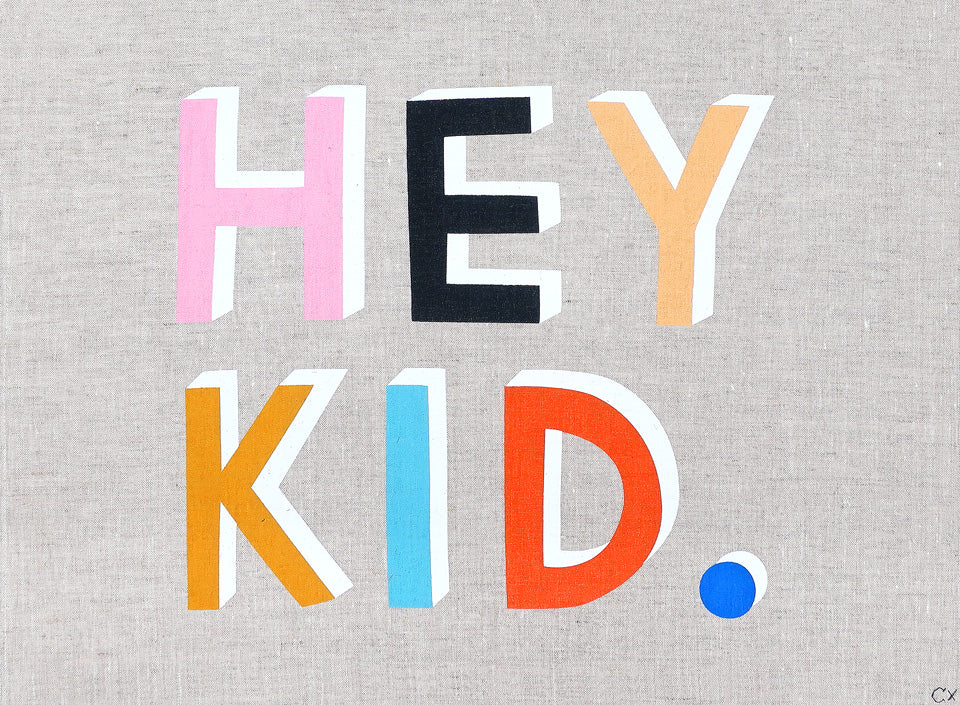 HEY KID ART TEATOWEL