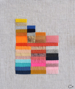 Little Graph Embroidery by Rachel Castle. 280mm w x 340mm h