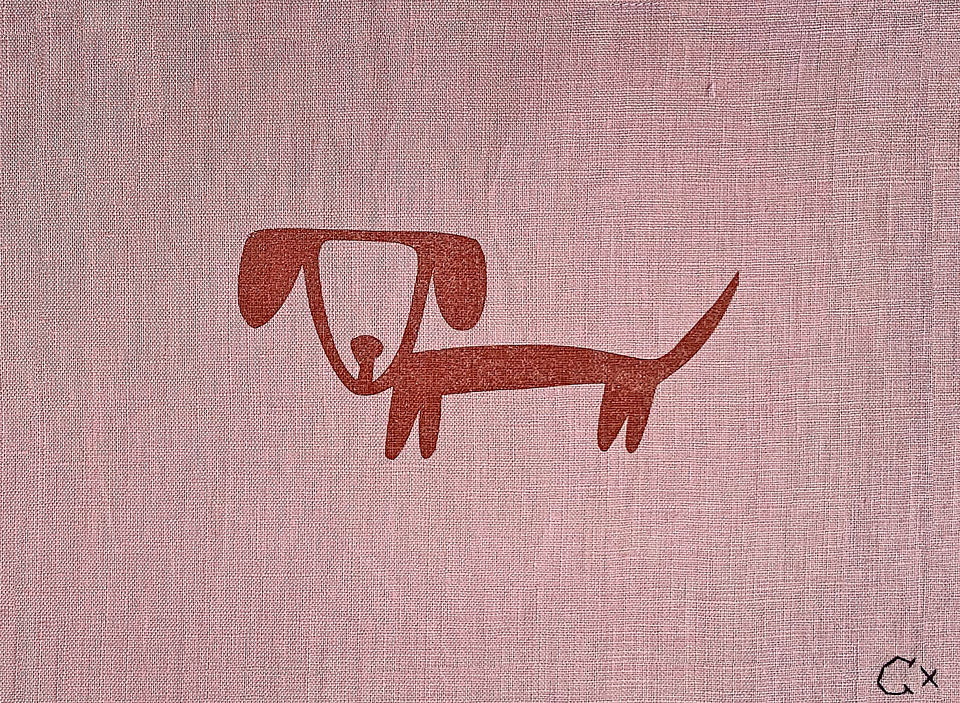 Little Rusty Dog Print by Rachel Castle. 290mm w x 220mm h