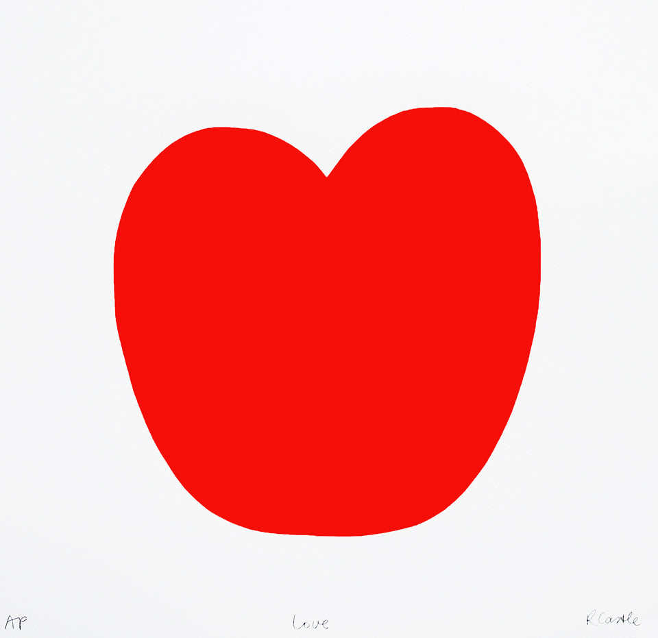 Love Print by Rachel Castle. 550mm w x 530mm h