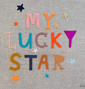 My Lucky Star Embroidery by Rachel Castle. 390mm w x 410mm h