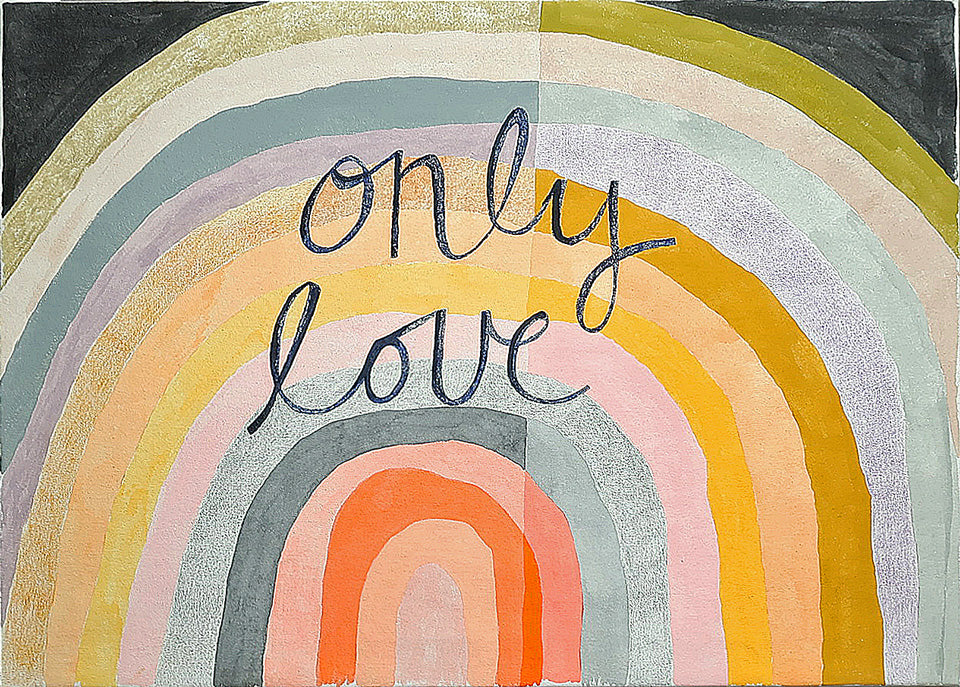 Only Love painting by Rachel Castle. 750mm w x 500mm h