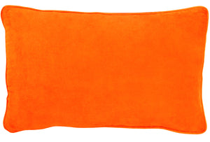 Orange Lumbar Cushion Cover by Castle. 52 x 30cm