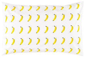 Banana Pillowcase by Castle. 50 x 75cm