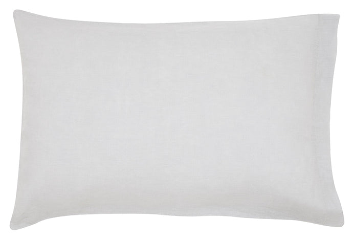 Grey Linen Pillowcase by Castle. Plain Grey Linen. 50 x 75cm