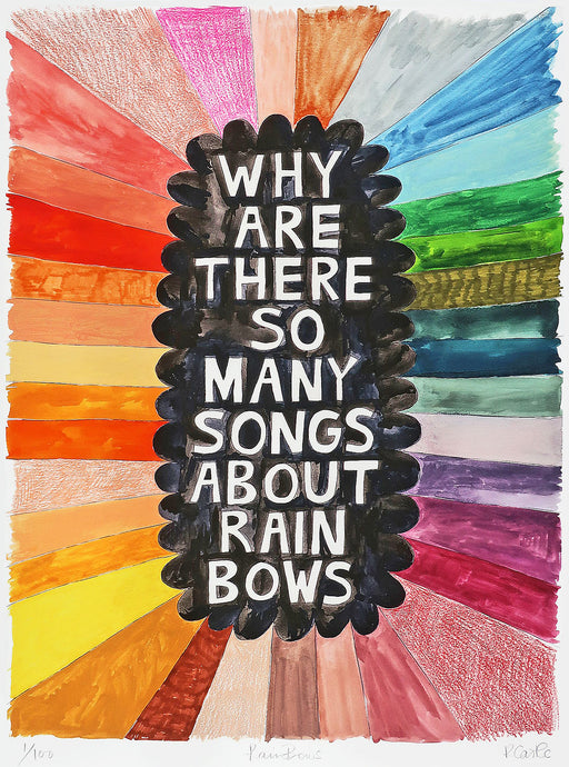 Rainbows Print by Rachel Castle. 500mm w x 750mm h