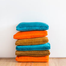 Velvet Stack by Castle. Orange Lumbar Cushion Cover. Butterscotch Lumbar Cushion Cover