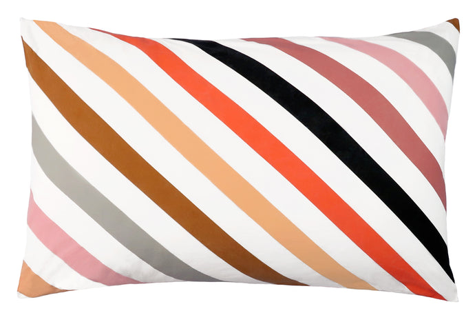 Candy Stripe Cotton Pillowcase by Castle
