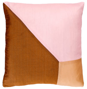 Triangle Cushion Cover by Castle. Taffeta with black velvet reverse. 43 x 43cm