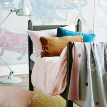 Blush Linen Single Bed. Castle